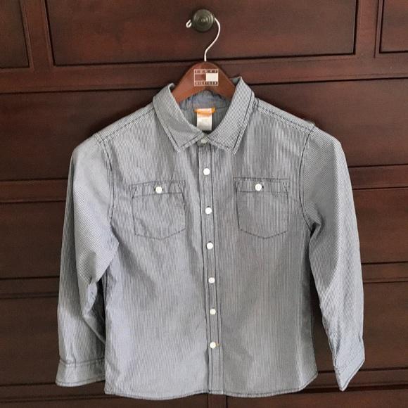*️⃣2/$30 Gymboree navy and white button down shirt